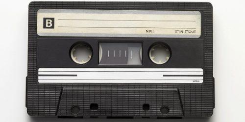 Tape recorder cassette still life